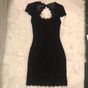 Jump Apparel Black Lace Detail Dress